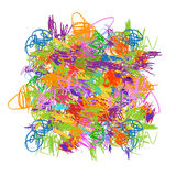 Frame made from childish doodles for your design Royalty Free Stock Photos
