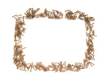 Frame made by chipboard screws Royalty Free Stock Photo