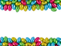 Frame made of Chocolate eggs Royalty Free Stock Photo