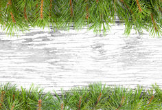 A frame made of christmas tree branches Royalty Free Stock Photography