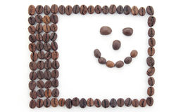 Frame made of coffee beans Royalty Free Stock Image