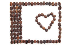 Frame made of coffee beans Stock Photography