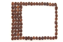 Frame made of coffee beans Royalty Free Stock Photo