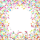 Frame made of colored network Stock Image