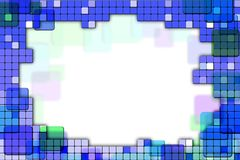 Frame made of colored tiles. Royalty Free Stock Images