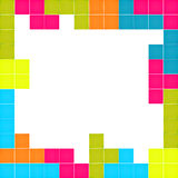 Frame made of colorful blocks puzzle. Video game Royalty Free Stock Photo