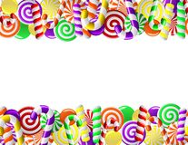 Frame made of colorful candies. Seamless pattern Stock Images