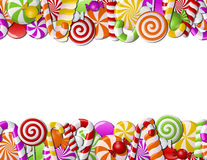Frame made of colorful candies Royalty Free Stock Photo