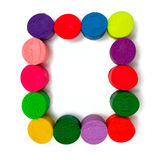 Frame made of colorful plasticine Stock Images