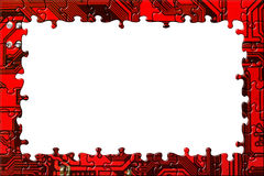 Frame made of computer puzzle Royalty Free Stock Photography