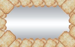 Frame made of cracker on beautiful gradient Stock Images
