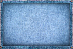 Frame made from denim,blue jeans background.  Royalty Free Stock Photo