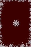 Frame made from diamond snowflake. Isolated Royalty Free Stock Photography