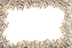 Frame made from dollar bills Royalty Free Stock Images
