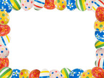 Frame made with Easter eggs royalty free stock photo