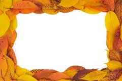 Autumn Red, Orange and Yellow Leaves Frame 3:2 royalty free stock images