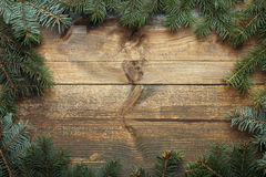 Frame made of fir branches Royalty Free Stock Image