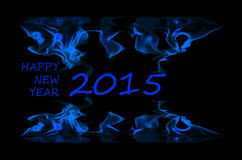The frame is made of fire patterns. Figures 2015 and happy new year Royalty Free Stock Images