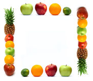 Frame made of fresh fruit Stock Photos
