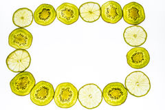 Frame made of of fresh kiwi fruit Stock Images