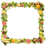 The frame made of  fruits   Royalty Free Stock Images