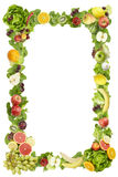 The frame made of  fruits and vegetables Royalty Free Stock Images