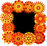 Frame made of geometric flowers Royalty Free Stock Images