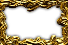 The frame is made of gold. Royalty Free Stock Photo