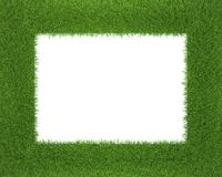 Frame made of grass isolated on white background Royalty Free Stock Image