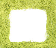 Frame made from green strings Royalty Free Stock Image