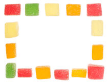 Frame made of jelly candies Stock Photography