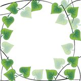 Frame made of leaves stock illustration