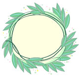 Frame made of leaves Royalty Free Stock Photo