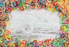 Frame made of loom bands Stock Photo