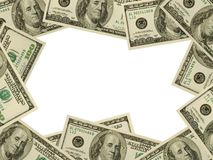 Frame made of money stock image