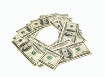 Frame made of money isolated on white background Stock Image
