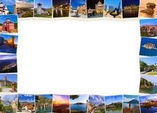 Frame made of Montenegro Bosnia Serbia images my photos royalty free stock images