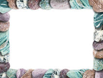 Frame made of multicolored stones, spa background Royalty Free Stock Photo