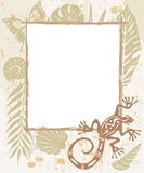 Frame made of natural objects Royalty Free Stock Photography