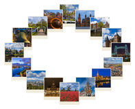 Frame made of Netherlands travel images my photos Stock Images