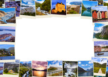 Frame made of Norway travel images (my photos) Stock Photo
