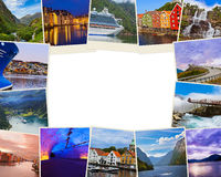 Frame made of Norway travel images my photos Stock Photos