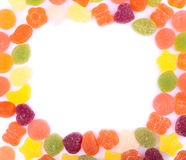 The frame made with numerous jelly candies Stock Image