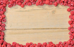 Frame Made Of Raspberries. Stock Photos