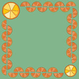 Frame made of orange slices Stock Images
