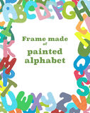 Frame made of painted letters. Royalty Free Stock Image