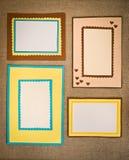Frame made of paper Stock Photos