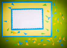 Frame made of paper Royalty Free Stock Photos