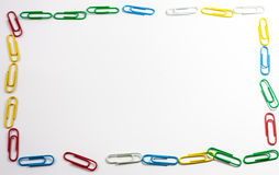 Frame made of paper clips royalty free stock photo