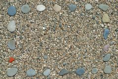 Frame made from pebbles Royalty Free Stock Photography